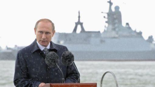 러시아의 신 해양독트린을 발표하고 있는 블라미미르 푸틴 러시아 대통령