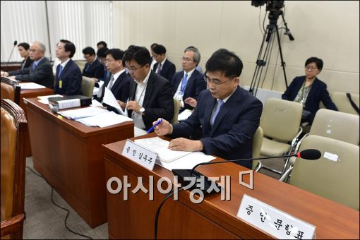 [포토]국감 불출석한 문형표 전 장관