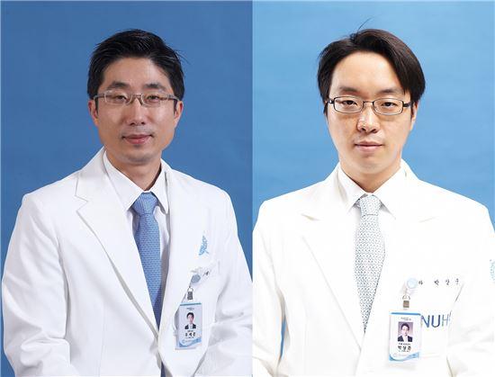 분당서울대병원 안과 우세준 교수(좌), 박상준 교수(우)