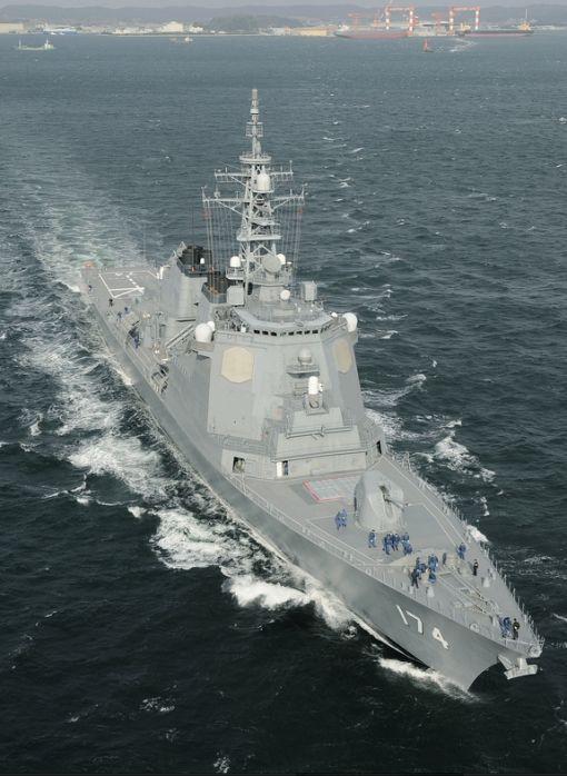 일본 해상자위대 이지스함 기리시마. 일본은 6척의 이지스함을 보유하고 있는데 2척을 추가 건조한다.