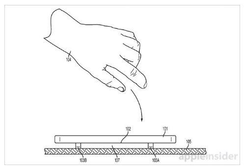 애플이 아이폰 액정화면을 보호하기 위해 단말기가 떨어질 튀어나오는 보호기에 대한 특허를 출원했다.(사진 출처 : 애플인사이더)