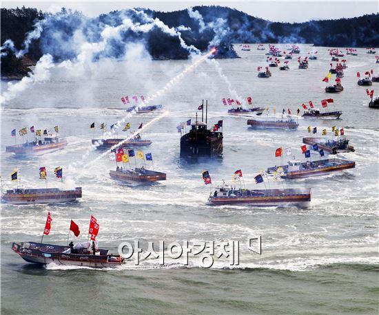 김남균(전남 무안)씨의 '명량해전'