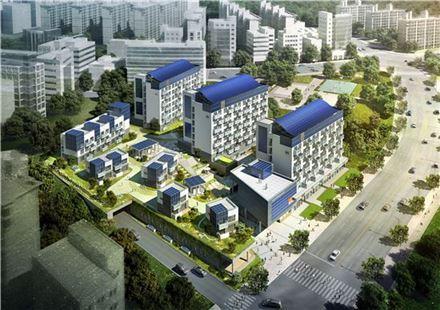 지난해 11월 착공된 서울 노원구 하계동 제로에너지 실증단지 조감도