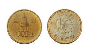 1983년 최초발행된 구형 10원 주화(자료:한국은행)