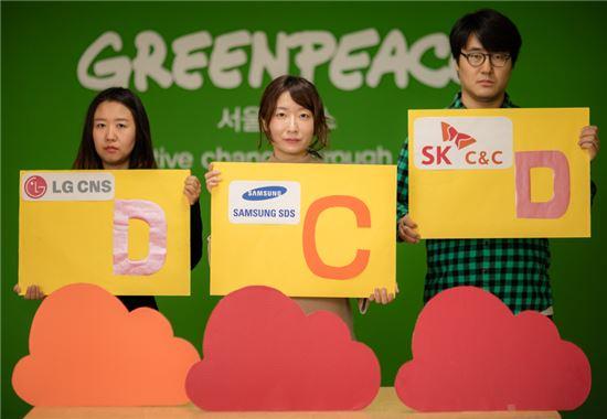 그린피스가 공개한 국내 주요 웹사이트 친환경 점수
