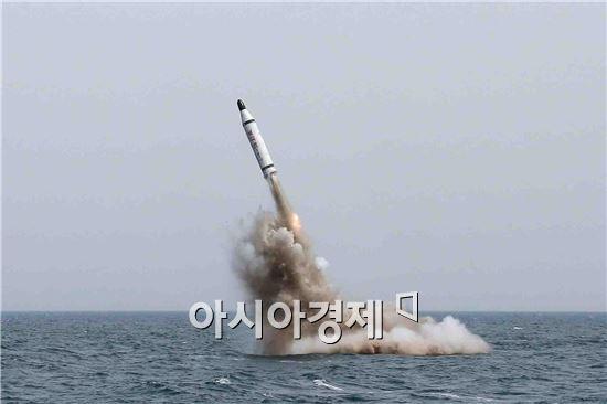 잠수함 발사 탄도미사일(SLBM) 모습. (자료사진)