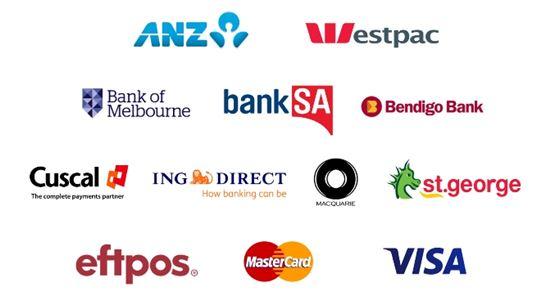 안드로이드페이를 지원하는 금융기관(사진:구글 호주 공식 블로그)