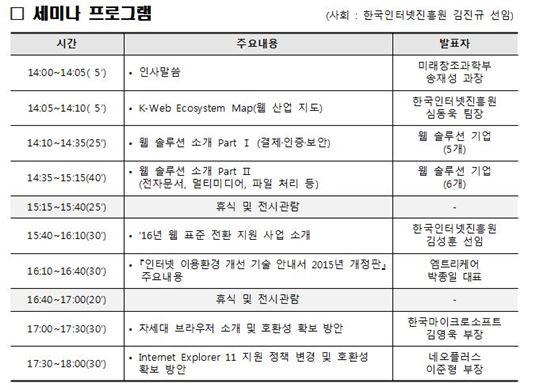 인터넷진흥원, 웹표준 기술 세미나·전시회 개최