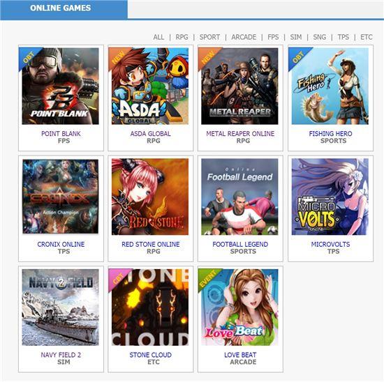 12종의 게임이 게임앤게임에 탑재되고, 해외 서비스에 필요한 지원을 받는다.