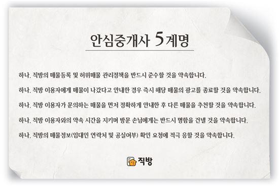 직방, 매물 등록 강화한다…'안심중개사' 도입