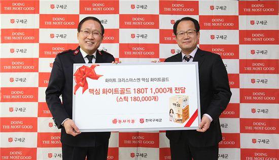 동서식품, 맥심 화이트골드 스틱 18만개 구세군에 기부