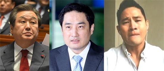 (왼쪽부터)김무성 새누리당 대표, 강용석 변호사, 유승준