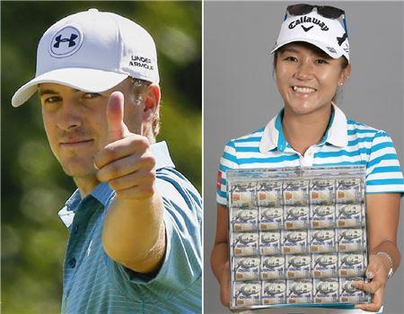 남녀 골프 세계랭킹 1위 조던 스피스(왼쪽)와 리디아 고.