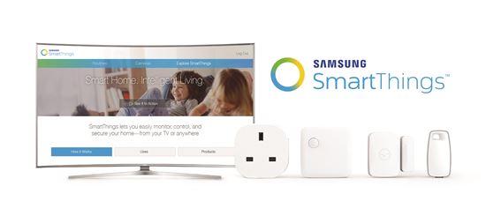 삼성전자 SUHD TV와 스마트싱스(SmartThings)의 다양한 IoT 센서들