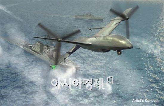 다파의 함정 수직이착륙기 컨셉트 그림