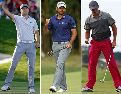 조던 스피스와 제이슨 데이, 로리 매킬로이(왼쪽부터) 등 역대 최연소 '톱 3'가 지구촌 골프계를 지배하고 있다.