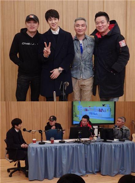 컬투쇼 출연한 '그날의 분위기' 유연석 조재윤. 사진=SBS라디오 두시탈출 컬투쇼 제공
