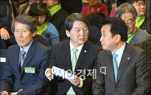 [포토]머리 맞댄 한상진·안철수·김영환