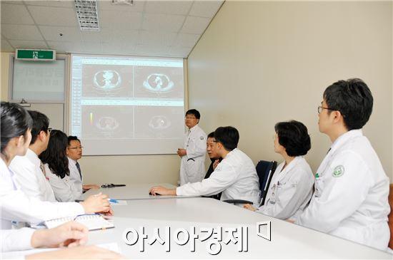 화순전남대병원 폐식도종양클리닉의 협진.