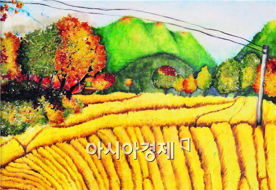 부안 쌀로 만든 미술작품전 '부안라이스아트전'이 서울과 부산 등 전국을 순회하면서 전시된다.