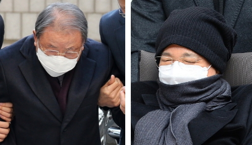 ▲조석래 효성그룹 회장(왼쪽)과 이재현 CJ그룹 회장