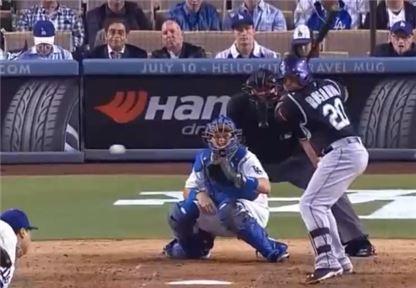 류현진을 상대로 홈런을 뽑아내는 로사리오 사진=SPOTV 캡쳐