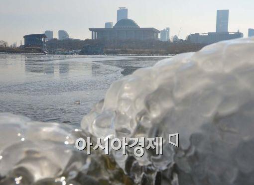 [포토]얼음 속 국회