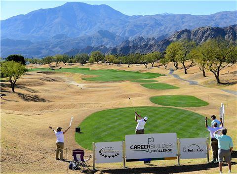 커리어빌더챌린지의 격전지 PGA웨스트 스타디움코스 16번홀 전경. 라킨타(美 캘리포니아주)=Getty images/멀티비츠