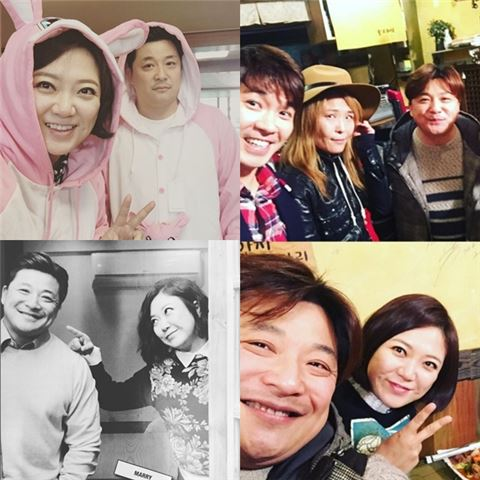 님과 함께 김숙 윤정수. 사진=김숙 인스타그램