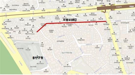 퀴논길 테마거리 조성 위치