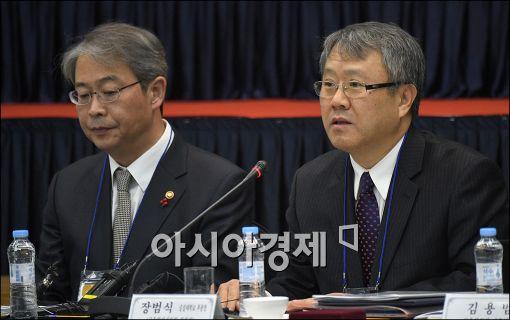 [포토]발언하는 장범식 신임 금발심 위원장