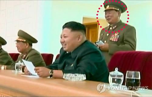 리종무(빨간 원)가 최근 북한 체육상으로 복귀한 것으로 보인다. (사진:연합뉴스)