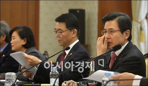 [포토]국민안전민관합동회의 주재하는 황교안 총리