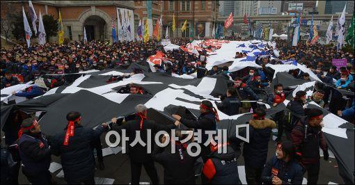 [포토]한국노총, 노동개악 저지 결의대회