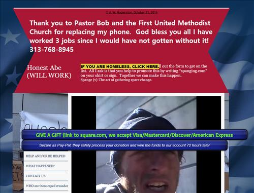 노숙자를 위한 미국 웹사이트. 사진=웹사이트 화면 캡처.