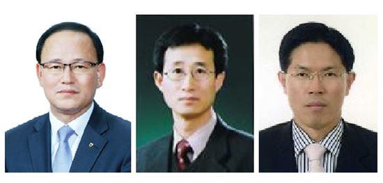 왼쪽부터 정성환 부사장, 한재선 경영지원본부장, 김동일 리스크관리본부장 사진/NH농협생명