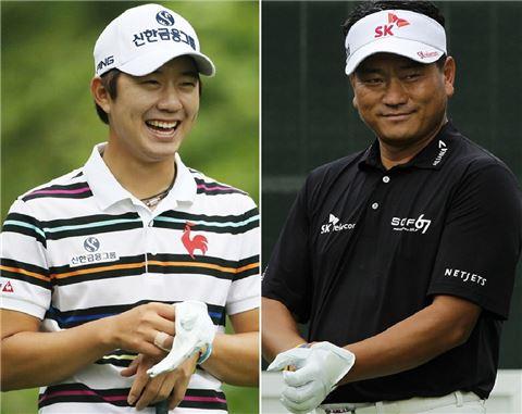 송영한(왼쪽)과 최경주
