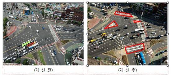 창원 어린교 오거리 교통시설 개선 사례
