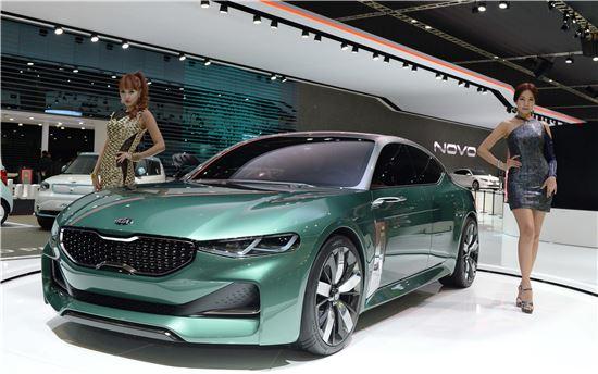 기아자동차가 지난해 서울모터쇼에서 공개한 준중형 스포츠백 컨셉트카 '노보(NOVO)