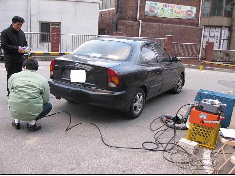 차량 배출가스 점검