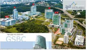 경기시니어센터 주변에 들어선 주요 경제관련 건물들