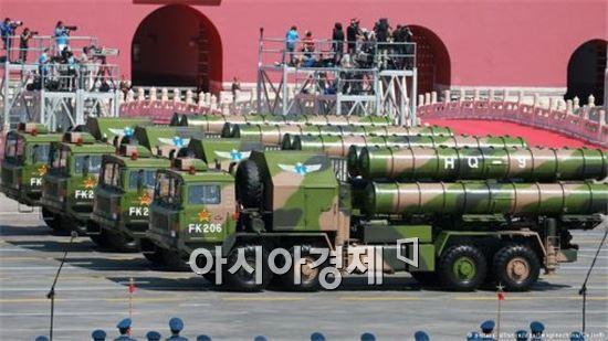 중국 인민해방군 퍼레이드에 모습을 보인 HQ-9