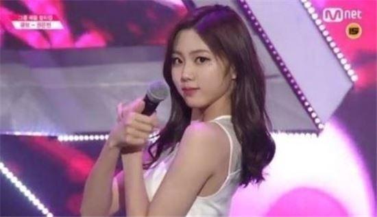 권은빈 / 사진=Mnet '프로듀스 101' 캡처