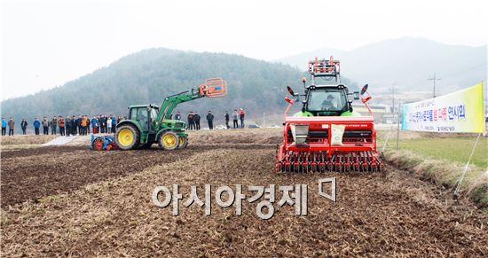 장흥군 겨울 사료작물 봄 파종 연시회 개최