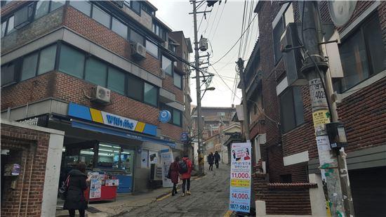 서울 서대문구 연희동 원룸촌 풍경.