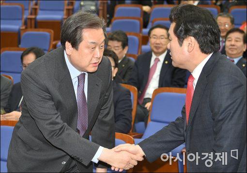 새누리당 김무성 대표와 원유철 원내대표. 사진=아시아경제 DB