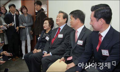 [포토]김무성 대표, 공천면접 대기