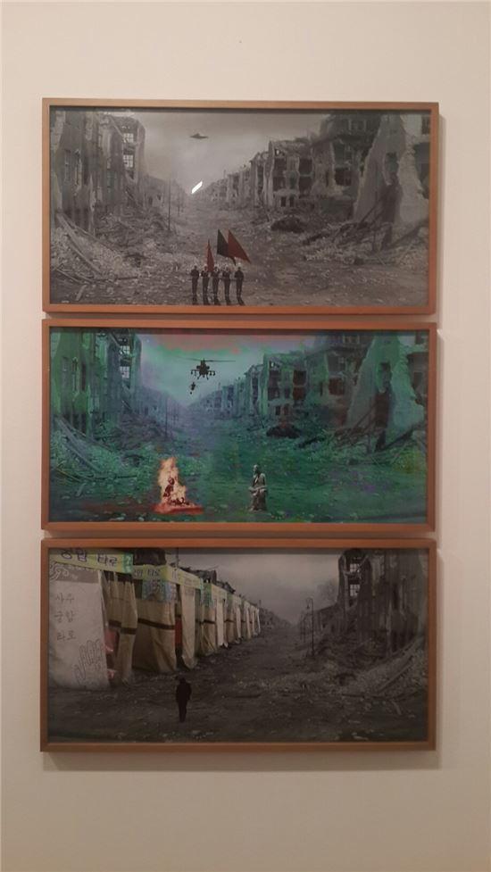 현기증 시리즈 작품, 2012년.