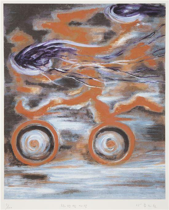 짜장면 배달, 2003년, 판화, 52x42.5cm
