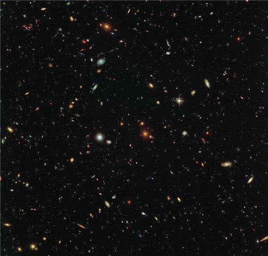 ▲허블우주망원경이 촬영한 수 천개의 은하.[사진제공=NASA]